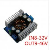 DC-DC Boost module 8-32V step-up to 9-46V 150W