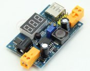 DC-DC Adjustable Step-Down Power Converter Module+LED Voltmeter+USB Port