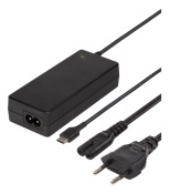 USB-C Laptopladdare, 2m, USB-C PD, svart, 65 W