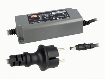 Nätaggregat: switchat; Mean Well OWA-60E-20, 60W; 20VDC; 0...3A, IP67