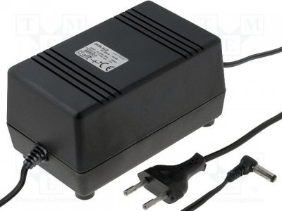 AC adapter 15VDC 1.4A 5.5x2.1mm Stab. (+) i cent