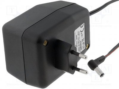 AC adapter 6V 0,8A 4.0x1,7mm Stab. (+) i cent