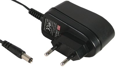 AC adapter till crosstrainer, 6V ...1A 5.5x2.1mm