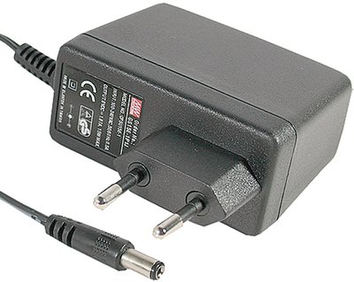 AC adapter Mean Well GS15E  5V 2,4A 5,5x2,1mm