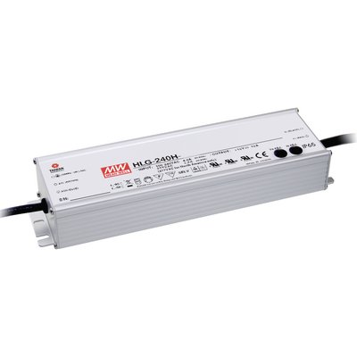 Nätaggregat 12V Mean Well HLG-240H-12A 16A Vattentät IP67