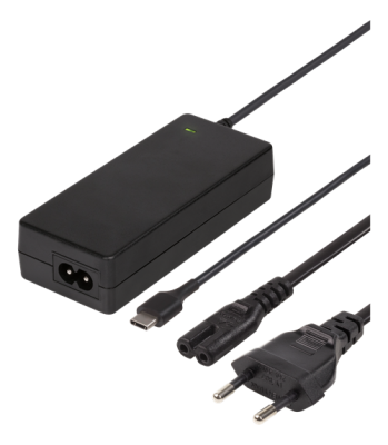 USB-C Laptopladdare, 2m, USB-C PD, svart, 45 W