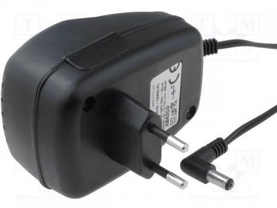 AC adapter 12V 0...0.5A, 5.5x2.1 Stab.