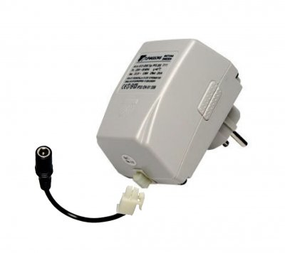 ACAC plug-in adapter,DC21 Tufvassons,  12V 0.6 A